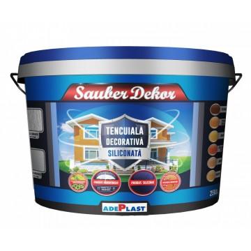 Tencuiala decorativa siliconata Sauber Dekor - caramida rosie 25 kg