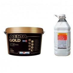 Vopsea lavabila interior Adeplast Aeria Gold alba 15L + amorsa 4L