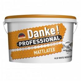 Vopsea alba pe baza de latex pentru interior Danke Mattlatex 15L