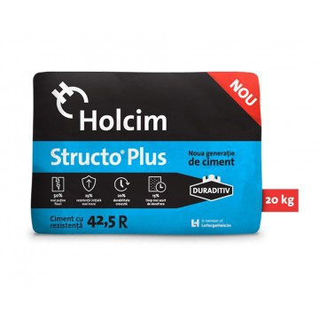 Ciment Holcim Structo Plus cu duraditiv 42.5R 20kg