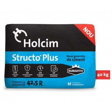 Ciment Holcim Structo Plus cu duraditiv 42.5R 40kg