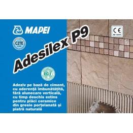Adeziv flexibil pentru gresie si faianta Mapei Adesilex P9 alb 25kg