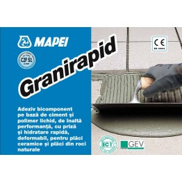 Adeziv flexibil pentru gresie si faianta Mapei Granirapid A + B alb 28kg