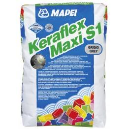 Adeziv flexibil pentru gresie si faianta Mapei Keraflex Maxi S1 gri 25kg