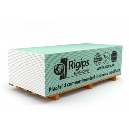 Placa gips-carton rezistenta la umiditate Rigips RBI tip H2 MINI 12.5x600x2000 mm