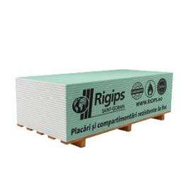 Placa gips-carton rezistenta la foc si umiditate Rigips RFI tip FH2 12.5x1200x2000 mm