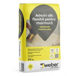 Adeziv flexibil alb pentru marmura weberset marmo plus