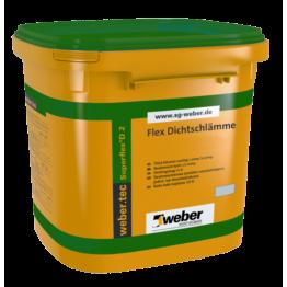 Hidroizolatie flexibila bicomponenta pentru interior si exterior webertec Superflex D2 24kg