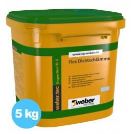 Hidroizolatie flexibila bicomponenta pentru interior si exterior webertec Superflex D2 5kg